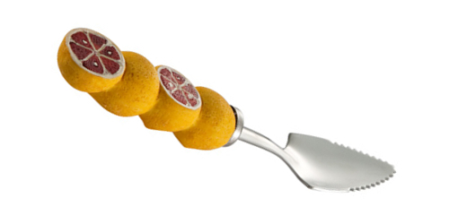 The grapefruit spoon, third cousin to the spork, has serrated edges like a knife. Should it be called a spnife? Whatever. You won't need one to enjoy the Rojo Grapefruito margarita.